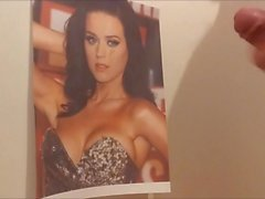 Katy Perry tribute - Queen of cum gets a load