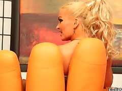 Hot blonde whore goes crazy part4