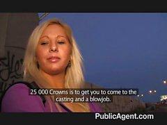 PublicAgent - Blonde para için seksten kabul etmektedir