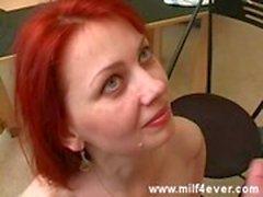 Sexig rysk rödhårig milf 2