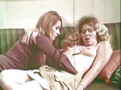 Vintage lesbian action with classic star Donna and her girlfriend
