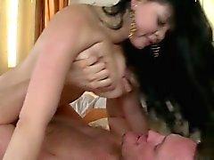 Sexy cowgirl hembakat creampie
