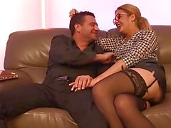La Cochonne - Pussy and ass fuck with French amateur slut in hot threesome