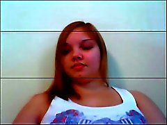 Chubby adolescente na webcam