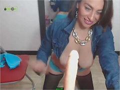 Jenna collar shirt up webcam