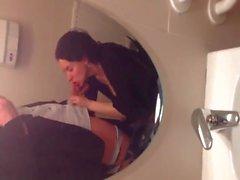 Wife sucking bathroom