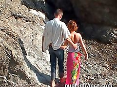 Couple amateur faire des relations anales sur la plage