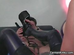 Kinky dominatrix Carmen knows how
