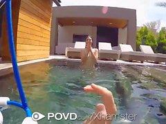 POVD - Jenna Reid gives underwater blowJob in pov