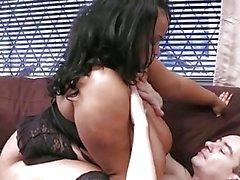 Big Busty Black Girls Enjoys White Cock