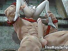Foxé fille en 3D se faire défoncer disque en The Juggernaut