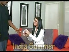 This big black dick fits India Summers hot slot perfectly