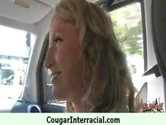 Sexy mature cougar rides black boy 7