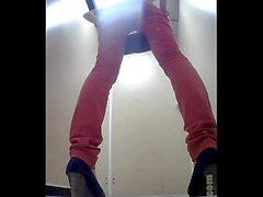 Butts on hiddencam squat toilet