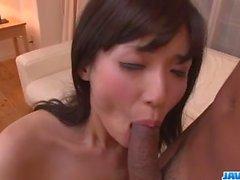 Tsukushi blows before enjoying cock in her