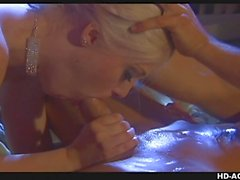 Blonde stunner is riding the dude untill they both cum hard