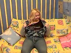 Chubby BBW Blonde Ex-vriendin met kont en kut