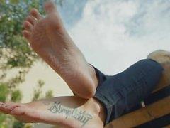 Jordyn's Wrinkly Feet Kick It Out Back