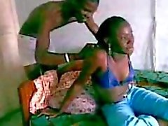 African Girl dare 3 guys to fuck her