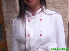 European amateur pickedup outdoors