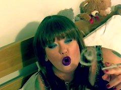 BBW Tina Snua Smoke A Filterless Cigarette