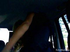 Backseat lesbian sex