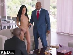 Megan rains gets double penetration from 2 bbc-moorhotcamgir