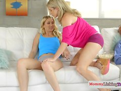 Sneaky stepmom scissors lesbian stepdaughter