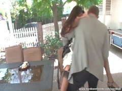 Superb maid fucked hard in the garden