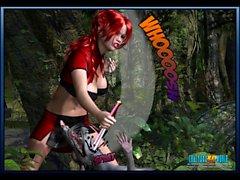 3D Comic: Crimson Sonja 1