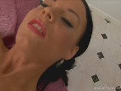 Amazing babe loses control in her bedroom