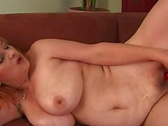 Hairy grandma solo sex