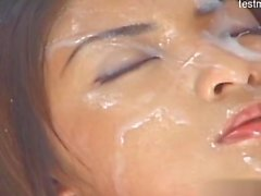 Young girlfriend cum in mouth
