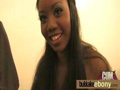 Ebony gangbanged interracial 23