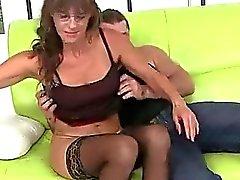 Hot Grandma Riding Huge Cock