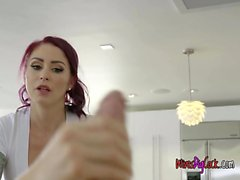 Married Chick Monique Alexander Massages Big Cock Of Client