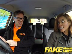 Fake Driving School Ebony Londoner Pays for lessons