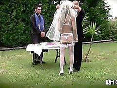 Big tits Portuguese bride gets fucked hard