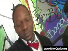 Interracial BlowBang - Facial cumshot in interracial hardcore fuck 09