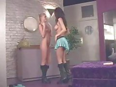 Brea and Amy are a couple of cheerleaders who explore lesbian pleasures