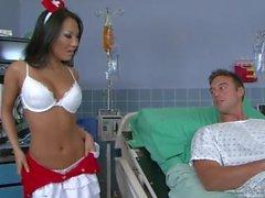 Nurse enjoys sex in the anus
