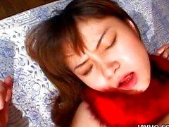 Firm tit hottie Jun Misaki gets a creampie