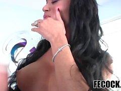 Busty tranny Mia Isabella enjoys hard fuck