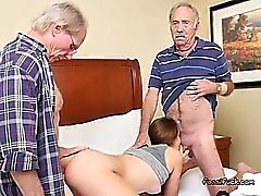 Young Hottie Naomi Alice Gets Shared By Old Men