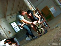 Tattooed Latina Babe Gets Plowed In Empty Warehouse
