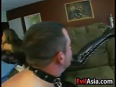 Asian Dominatrix With A Strapon