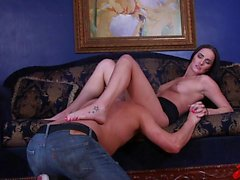 Bianca Breeze Hops On A Cock