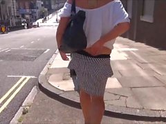 Mature flashing mum outdoors with sexy exhibitionist milf Je