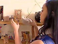 Barn för Liza , fransk hembiträde dp fan