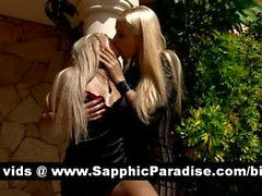 Logan and Daina blonde lesbos kissing and undressing each others and having lesbo sex